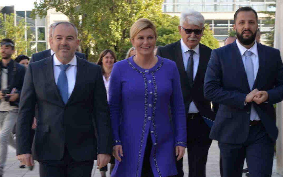 Predsjednica Republike Hrvatske posjetila Lučku upravu Ploče